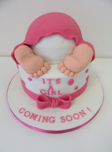 Its a Girl Baby Shower Cake - Rossendale