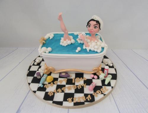 Girl in the Bath Birthday Cake - Rossendale