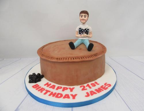 Pork Pie Birthday Cake - Bacup.