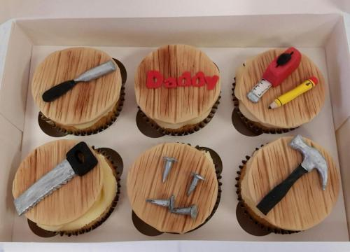 Joiner themed 'Daddy' Cupcakes.