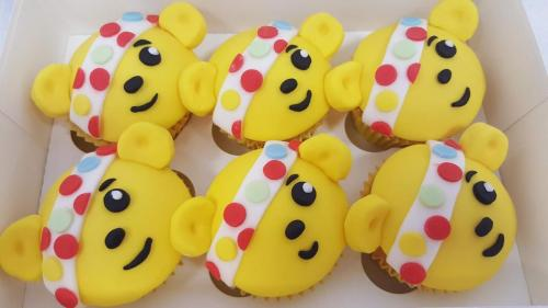 BBC Pudsey Bear Cupcakes.