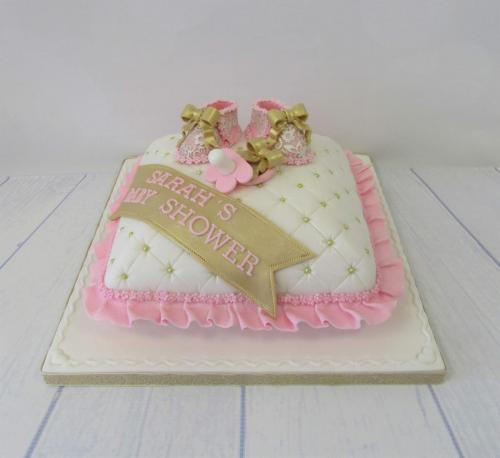 Pink Cushion Baby Shower Cake.