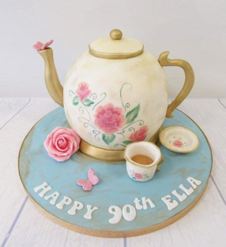 90th Birthday Teapot Cake.