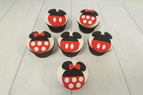 Disney's Minnie and Mickey Mouse style Cupcakes.