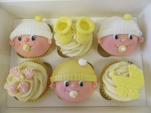 Baby face Cupcakes.
