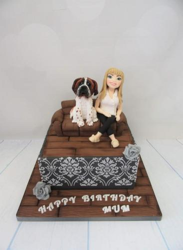 Dog lover Birthday Cake.