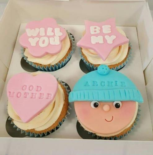 Will you be my Godmother Cupcakes.