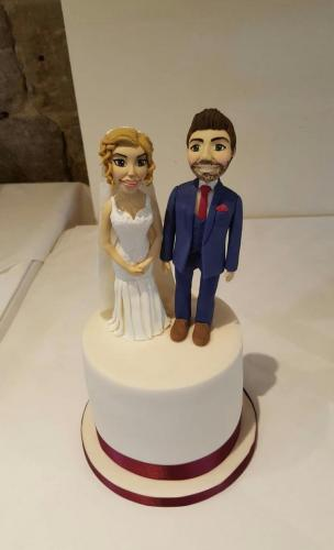 Wedding Cake with Bride and Groom.