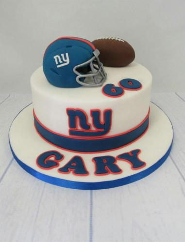 New York Giants Birthday Cake.