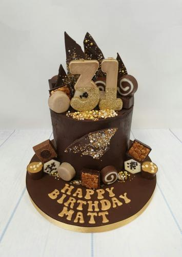 Chocolate Drip Birthday Cake.
